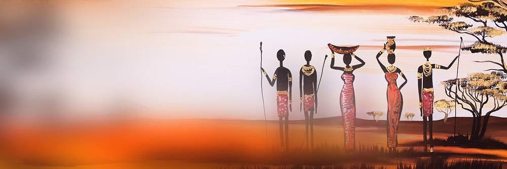 Peintures Afrique Collection Des Tableaux Aux Motifs Ethniques