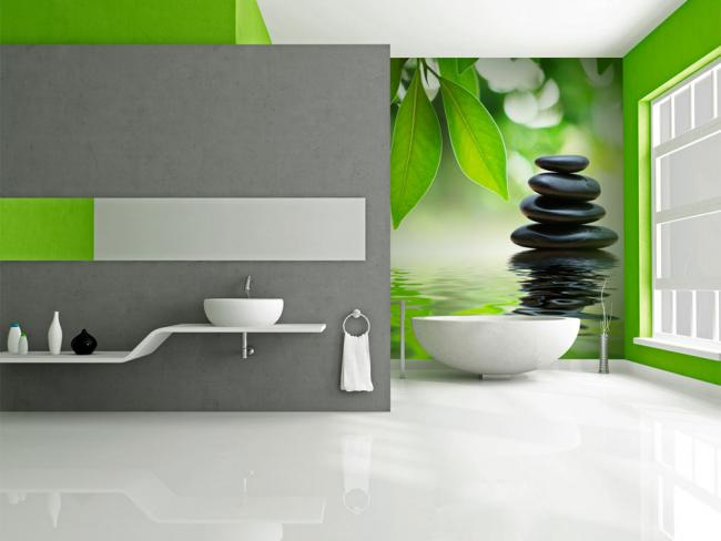 Baños Color Verde Limon: apuestes por un interior claro con acentos fuertes del verde limón