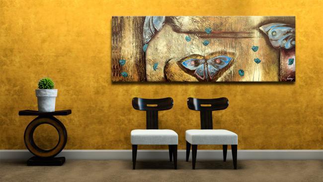 C mo elegir un cuadro para sal n - Pinturas para salones modernos ...