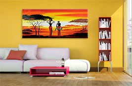 tableau moderne les possibilit s d coratives de la peinture bimago. Black Bedroom Furniture Sets. Home Design Ideas