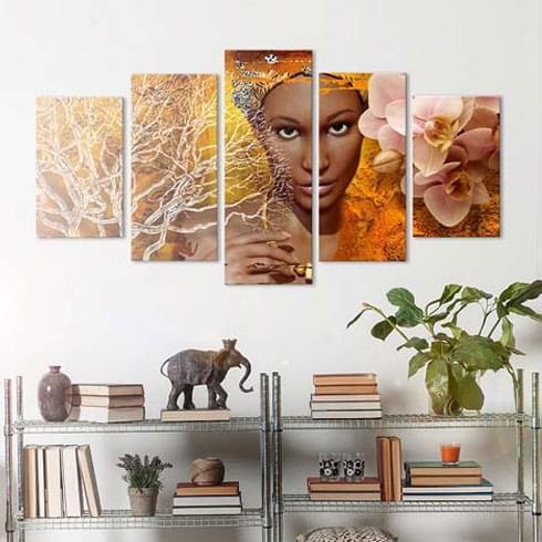 tableau africain maison du monde