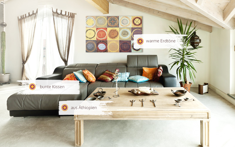 richten sie ihre wohnung mit afrika deko ein. Black Bedroom Furniture Sets. Home Design Ideas