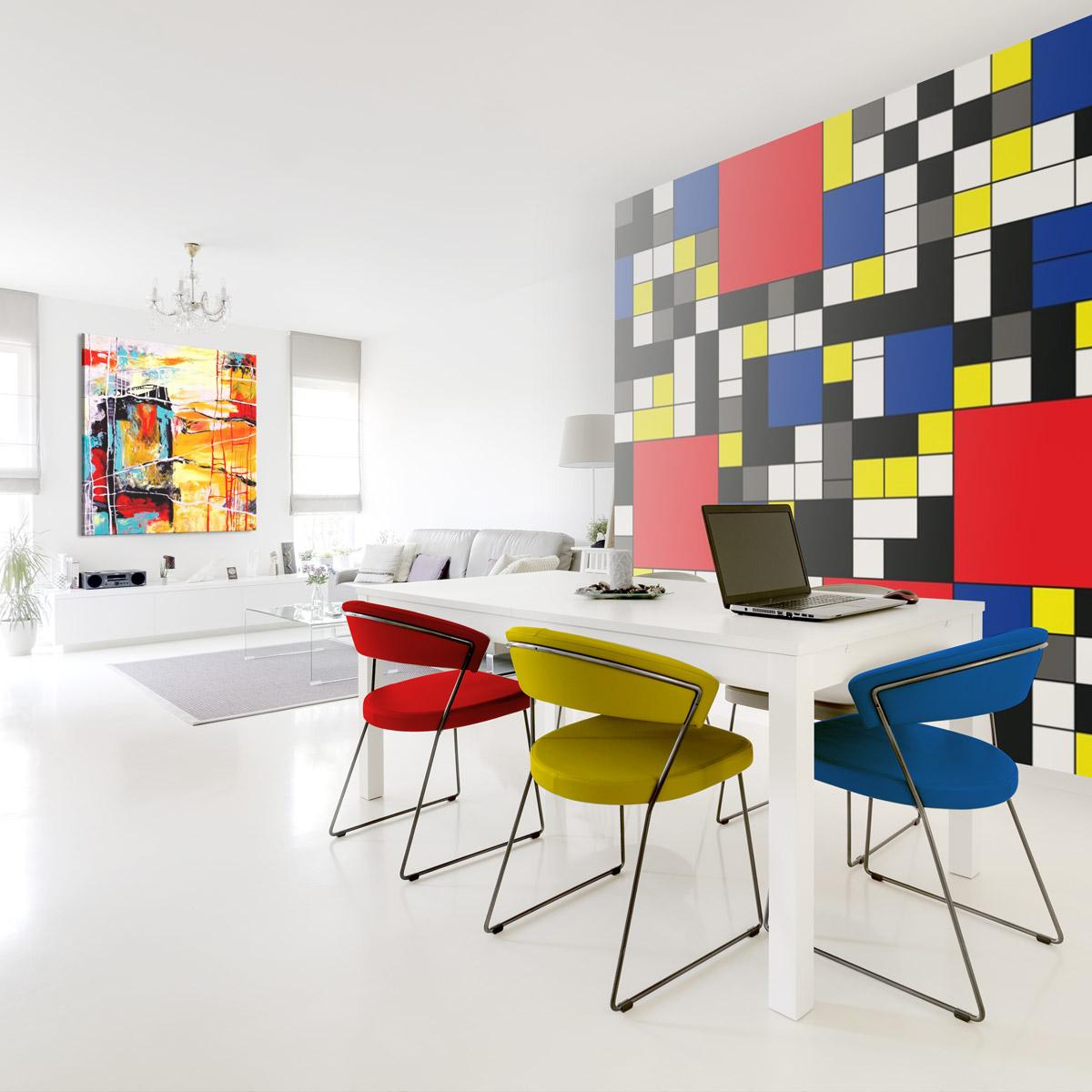 Stile bauhaus quadri e carta da parati moderna per una casa dal design minimal - Quadri per casa moderna ...