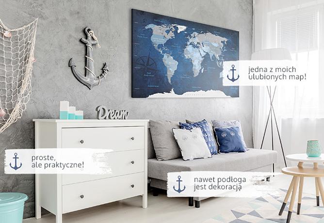 styl marynistyczny zobacz propozycje dekoracji i. Black Bedroom Furniture Sets. Home Design Ideas