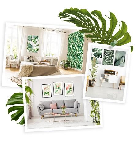 Style botanique dans la décoration