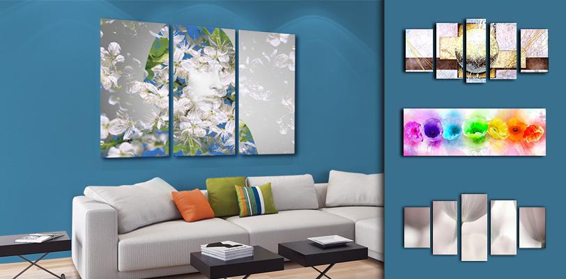 tableaux pour mur bleu. Black Bedroom Furniture Sets. Home Design Ideas