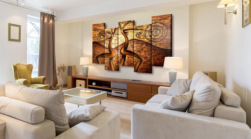 tableau multi panneaux toile en plusieurs parties bimago. Black Bedroom Furniture Sets. Home Design Ideas