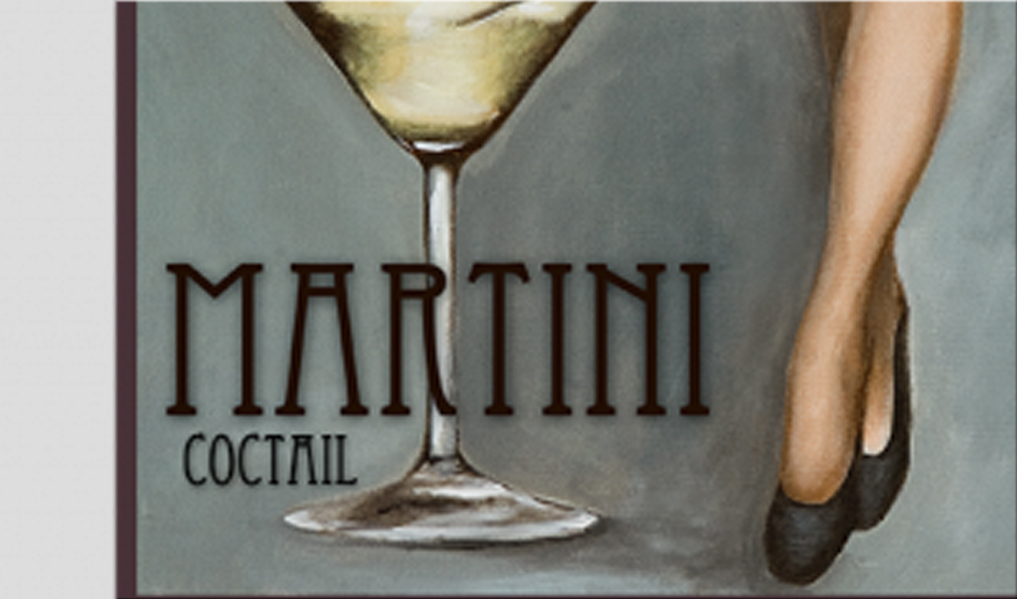 Tableau moderne Martini Coctail