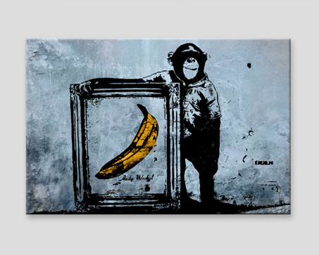Tableau design Inspired by Banksy - sepia