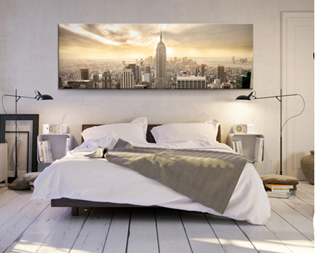 camera da letto con quadro