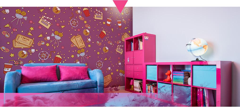 10 vantaggi e soluzioni decorative con carta da parati design for Carta parati bambina