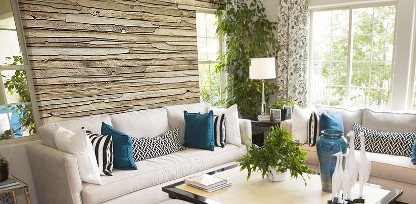 holz mauer und steintapeten. Black Bedroom Furniture Sets. Home Design Ideas