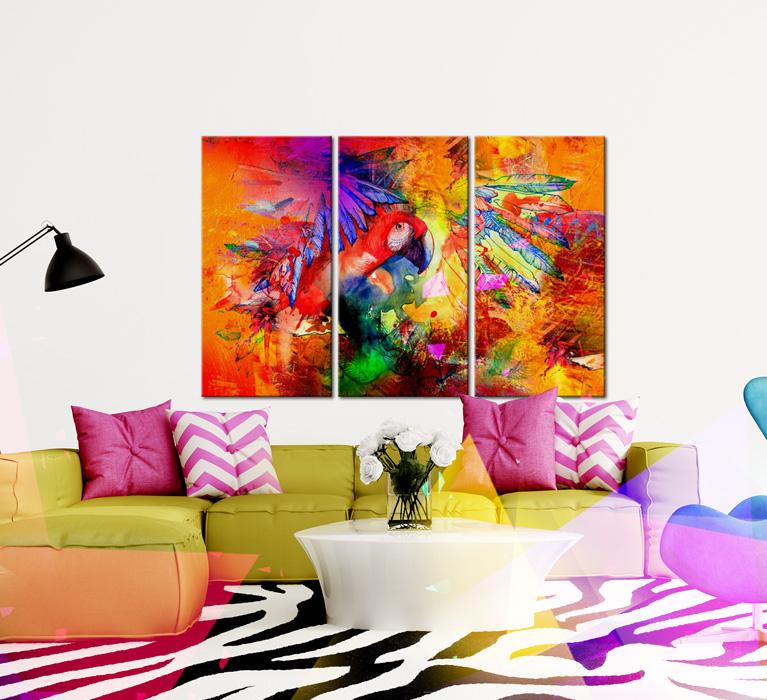 Triptyque collection de tableaux modernes chez bimago for Cuadro en lienzo modernos