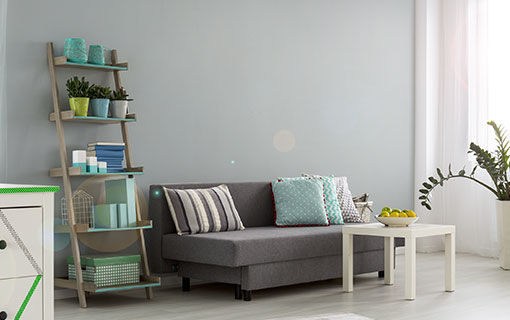 sch ne deko idee f r graue w nde. Black Bedroom Furniture Sets. Home Design Ideas