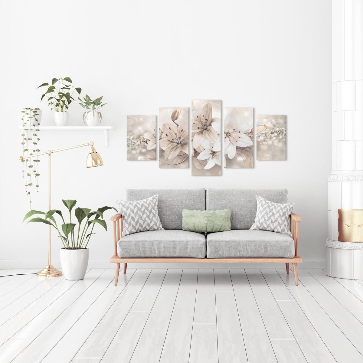 Quadri su tela fiori collezione delle moderne decorazioni - Decorazioni moderne pareti ...