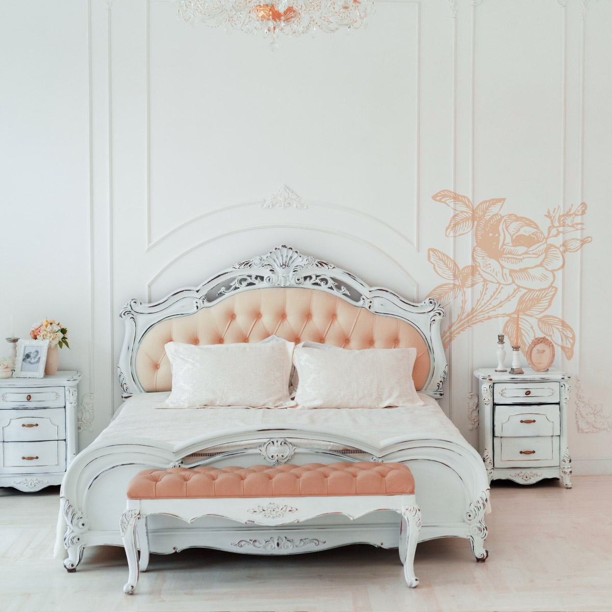 quadri e carte da parati shabby chic scopri decorazioni bimago. Black Bedroom Furniture Sets. Home Design Ideas