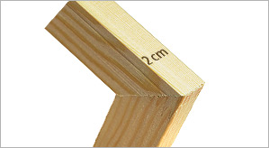 Eco pine stretcher bars