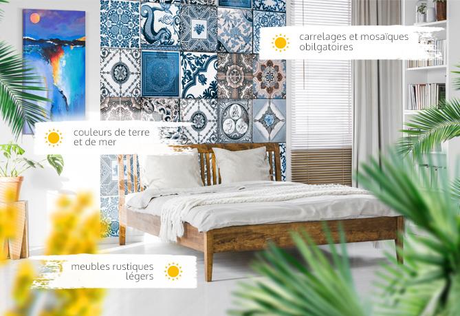 Style Mediterraneen Arrangez Un Salon Une Cuisine Et Une