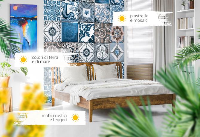 Stile mediterraneo - vedi come decorare il salone o la camera da letto