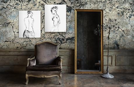 Der Stil Wabi Sabi Tapeten Wandbilder Und Paravents In Naturtonen