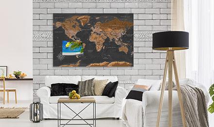 Nouvelle tendance - cartes du monde uniques en liège