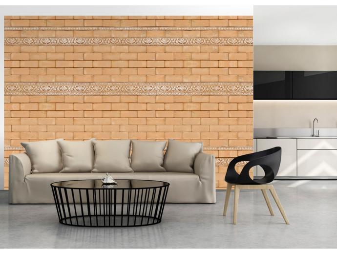 effet bois brique et pierre sur papiers peints. Black Bedroom Furniture Sets. Home Design Ideas