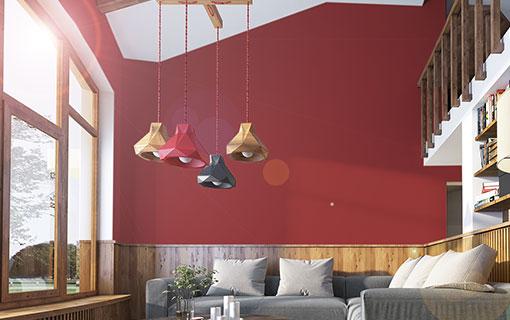 Ve ideas para adaptar cuadros a las paredes rojas en el interior