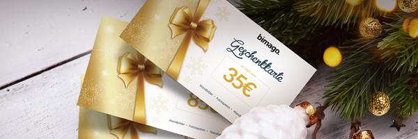 Die bimago Geschenkkarte
