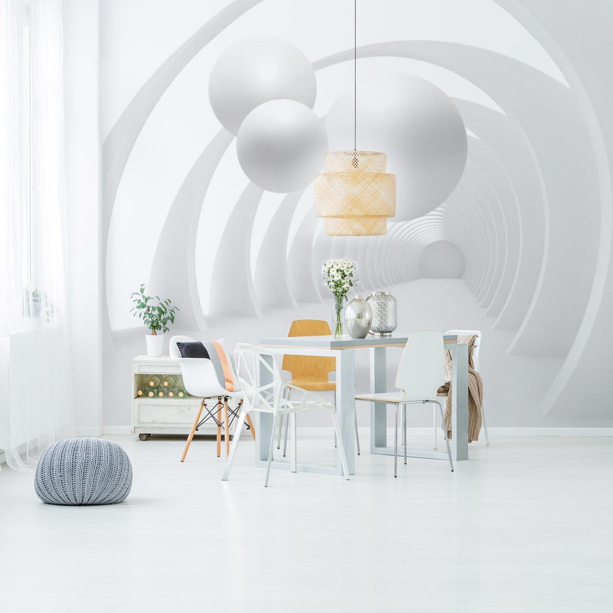 Idee Tapisserie Salle A Manger papiers peints pour habiller les murs d'un intérieur moderne