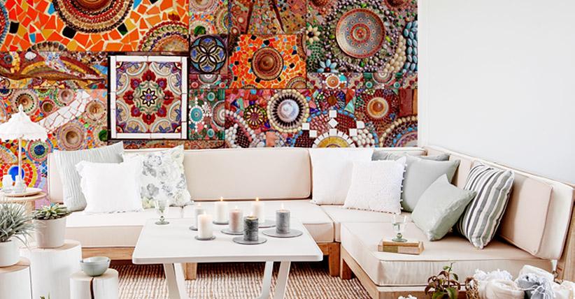 wohnen im boho style wandbilder tapeten fototapeten. Black Bedroom Furniture Sets. Home Design Ideas
